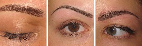волосковый метод татуаж бровей фото