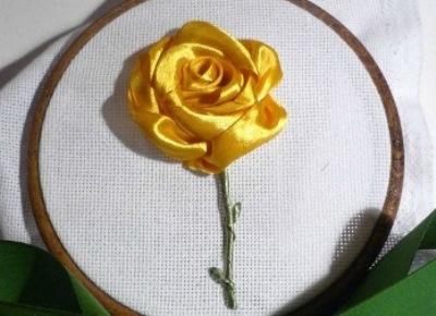техника вышивки лентами 5