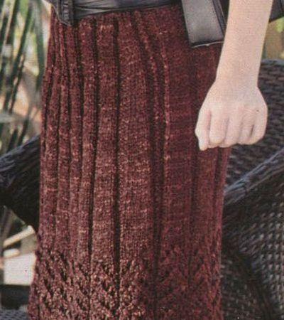 юбка плиссе спицами по схеме