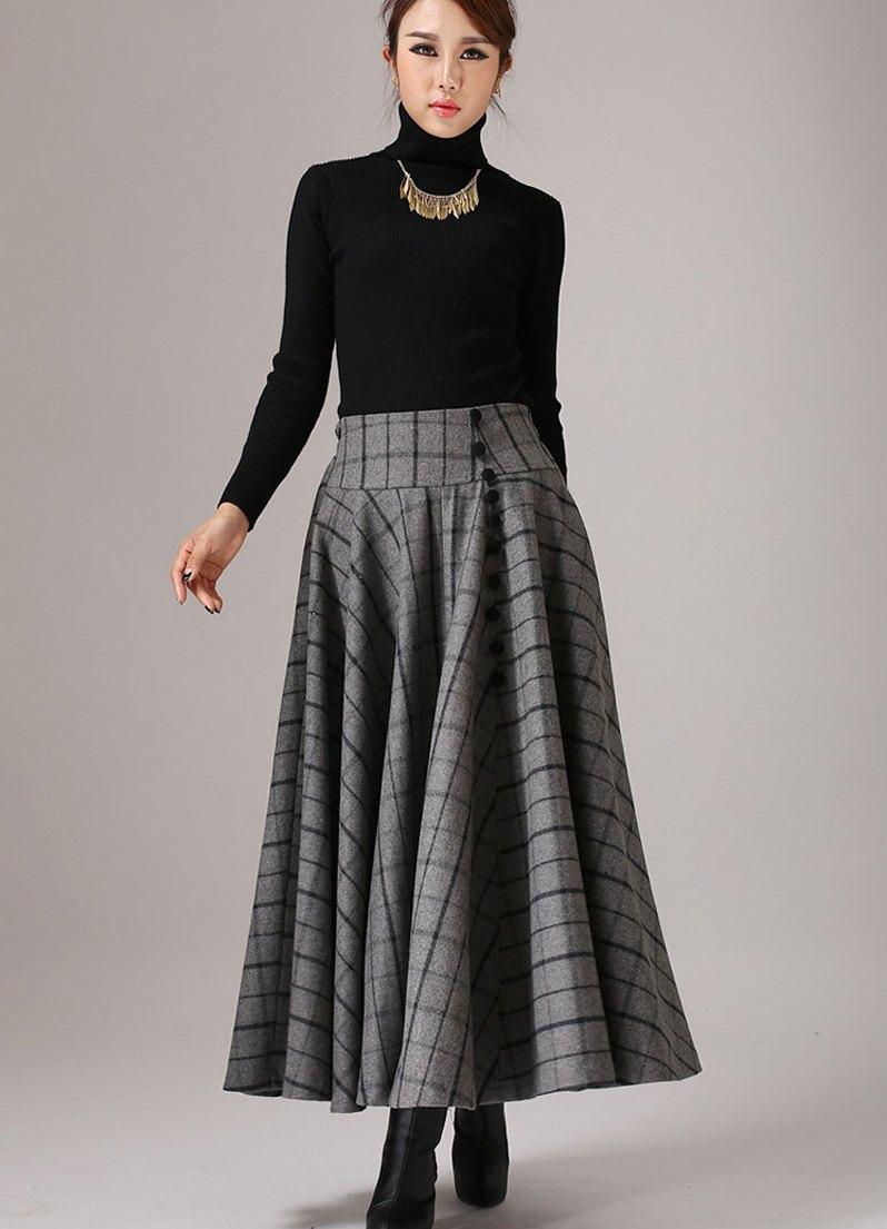 Длинные теплые юбки