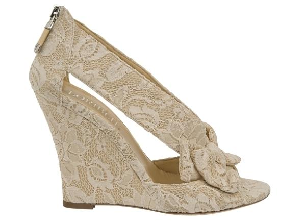Белые свадебные туфли - Купить модную