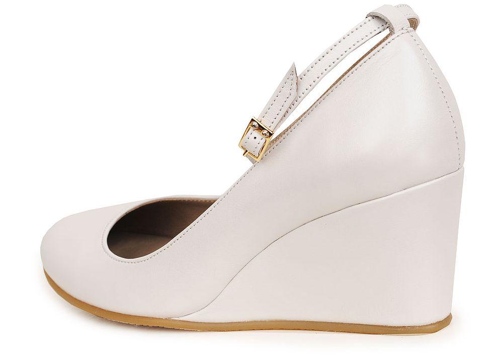 Туфли белые на свадьбу на танкетке