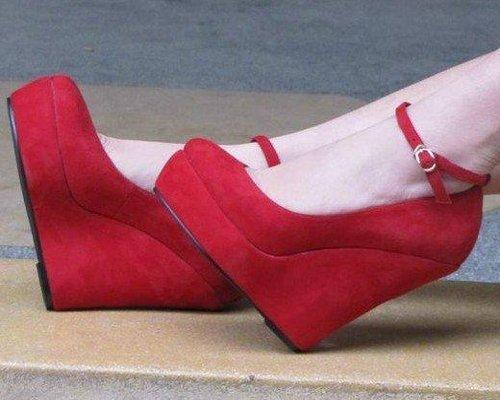 фото замшевые туфли на платформе