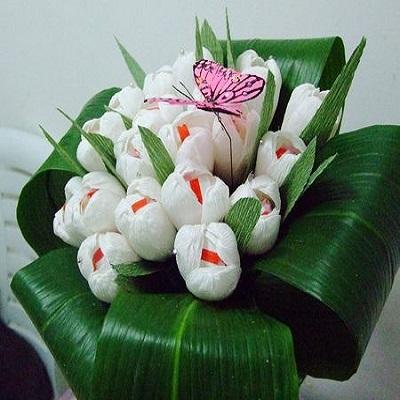 тюльпаны из гофрированной