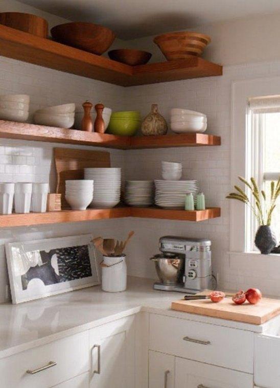 полки на кухню фото угловые
