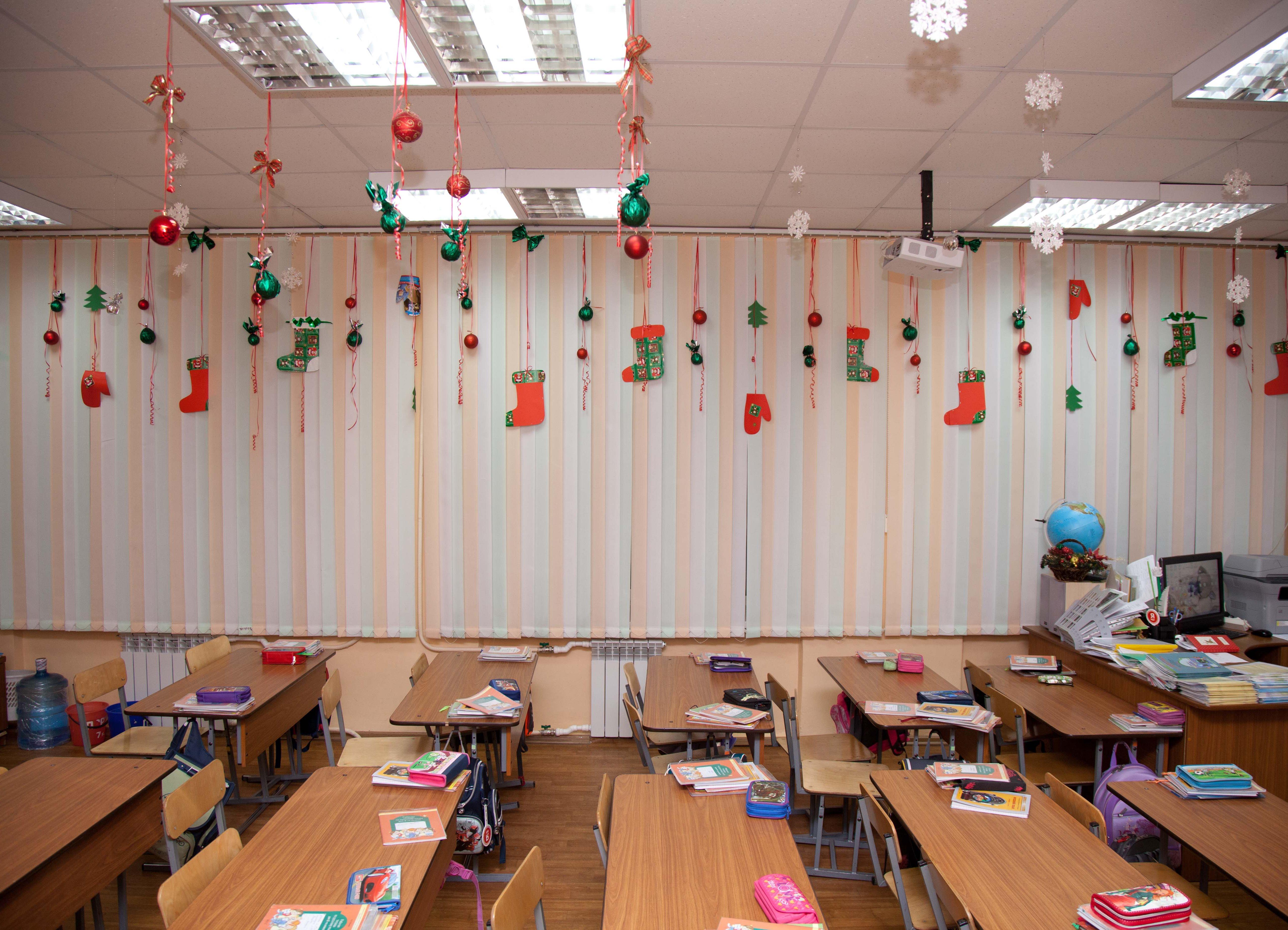 Оформление на новый год в классе