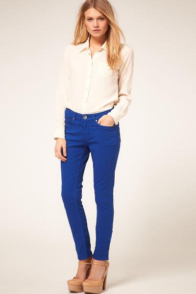 женские узкие джинсы с чем носить фото