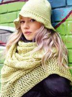 Узоры для шарфа спицами