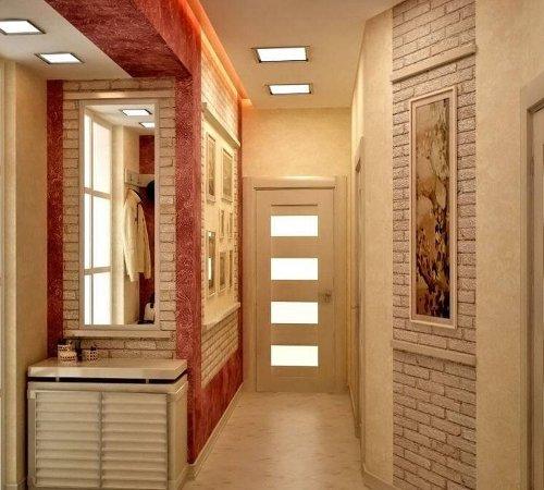 Интерьер узкого коридора в частном доме фото