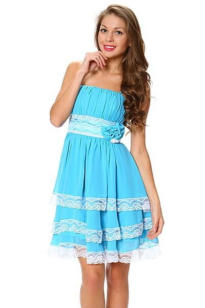 Голубое Платье - нежная вещь гардероба - 77 ФотоКому подходит голубое платье? . Конечно же, голубой цвет можно