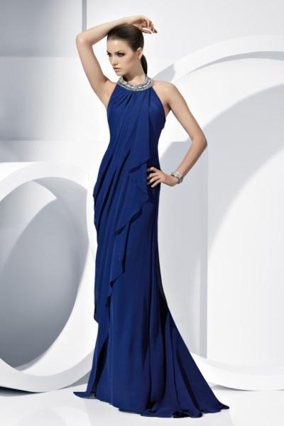 Вечерние синие платья короткие