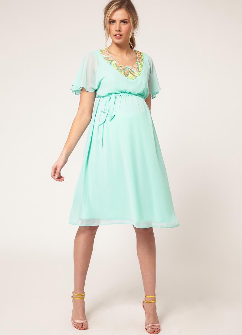 Вечерние платья летние для беременных 55