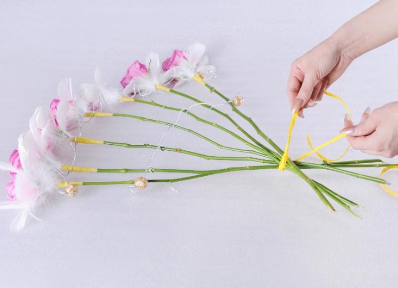 Веер своими руками цветы 1