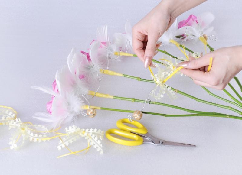 Веер своими руками цветы 97