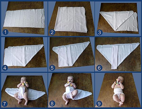 Пеленка для новорожденных размер своими руками 754