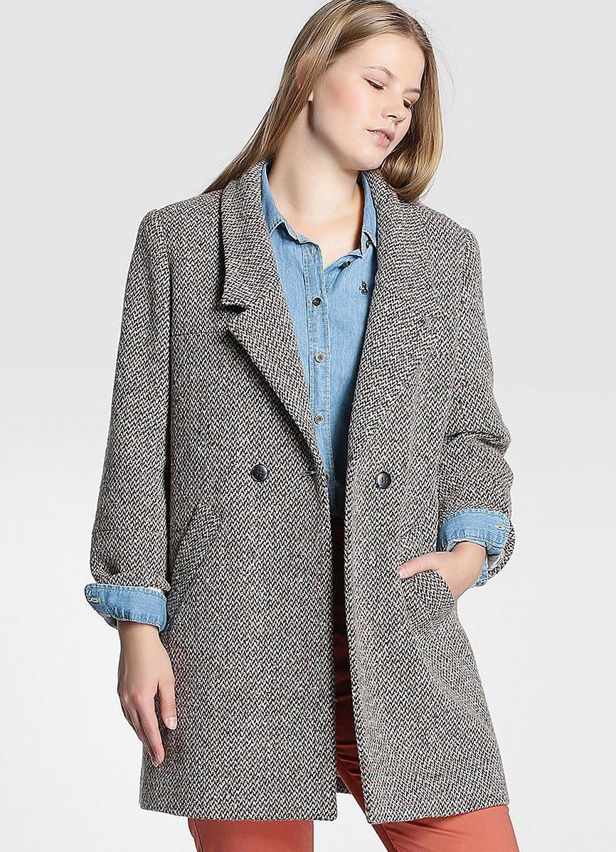 Пальто 2015 в стиле оверсайз особенно