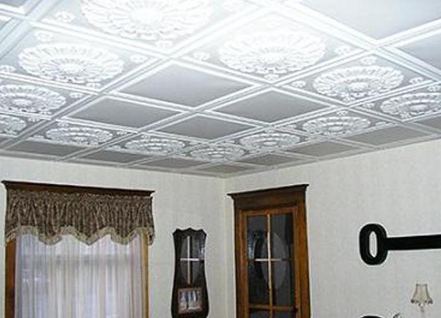 Дизайн потолков из потолочной плитки