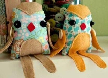 Игрушки из ткани своими руками совы