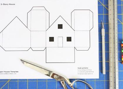 как сделать дом из бумаги фото