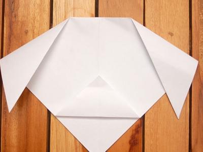 как сделать из бумаги собаку_32