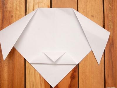 как сделать из бумаги собаку_33