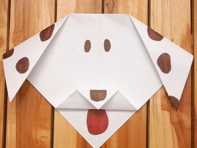 как сделать из бумаги собаку_35