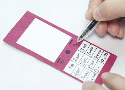 как сделать телефон из бумаги 3