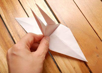 как сделать журавлика из бумаги фото 20