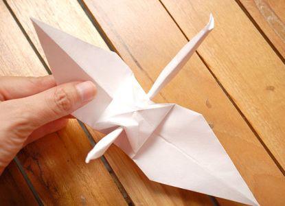 как сделать журавлика из бумаги фото 23