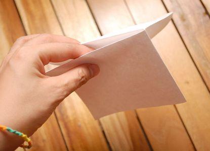 как сделать журавлика из бумаги фото 6