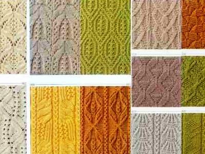узоры вязания спицами 6
