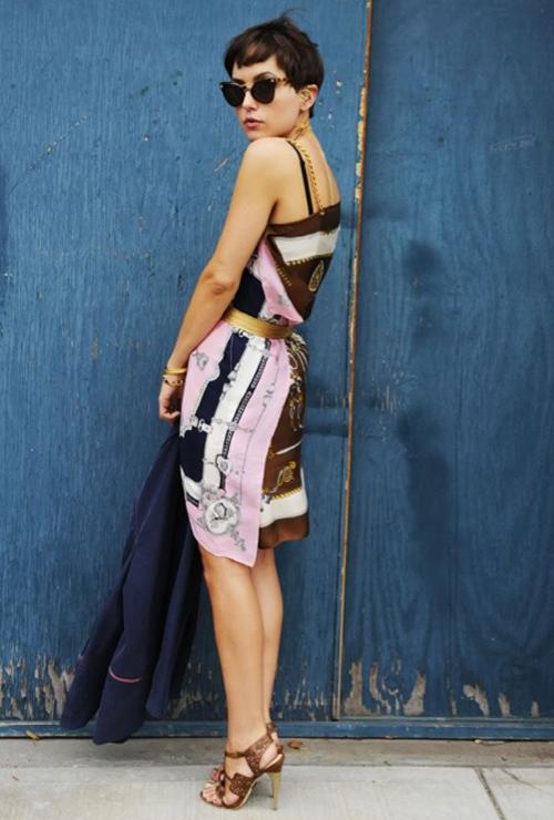 платье из платков_5