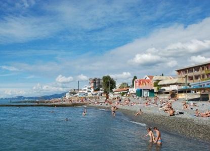 курортный городок адлер фото пляжа