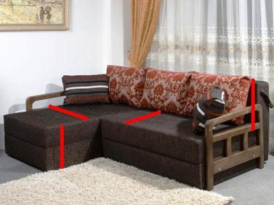 сшить покрывало на угловой диван 1