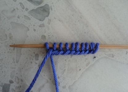 Тапочки вязанные на двух спицах 2