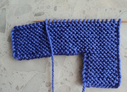 Тапочки вязанные на двух спицах 6