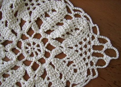 вязание скатерти крючком фото 12