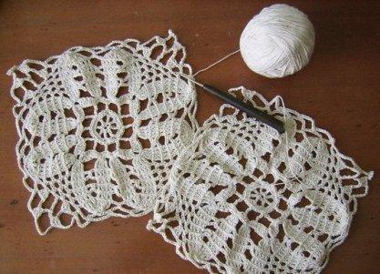 вязание скатерти крючком фото