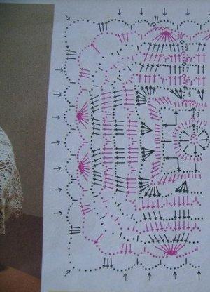 вязание скатерти крючком фото 2 (схема)