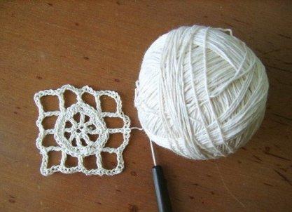 вязание скатерти крючком фото 6