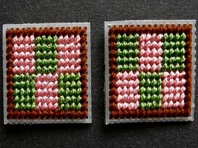 Вышивка барджелло на пластиковой канве