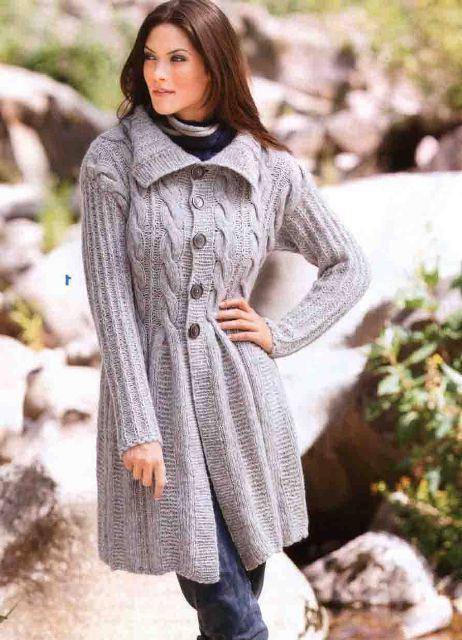 женщин вязаное пальто вязание спицами вязаные изделия вязаное пальто спицами вязаный кардиган Анжелика Ижицкая