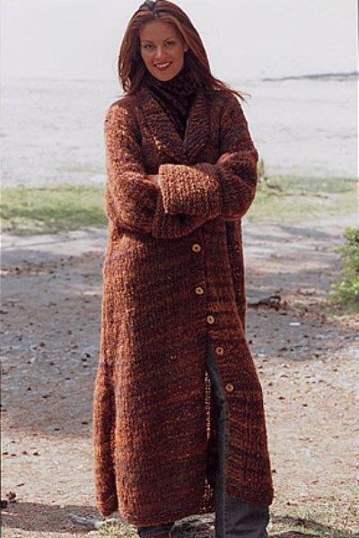 Вязанные пальто для полных фото