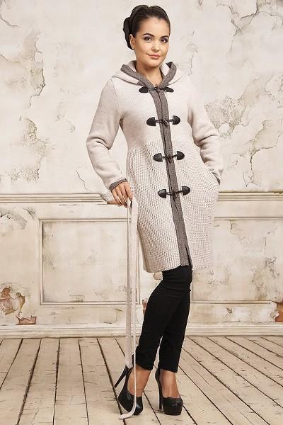 рукоделие вязаные пальто спицами