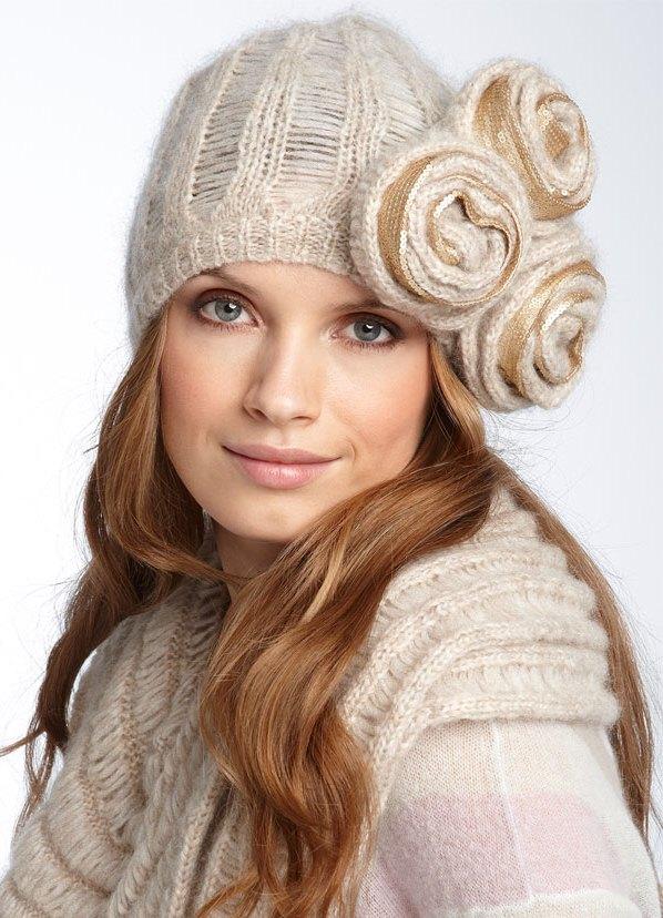 Зимние вязаные шапки своими руками