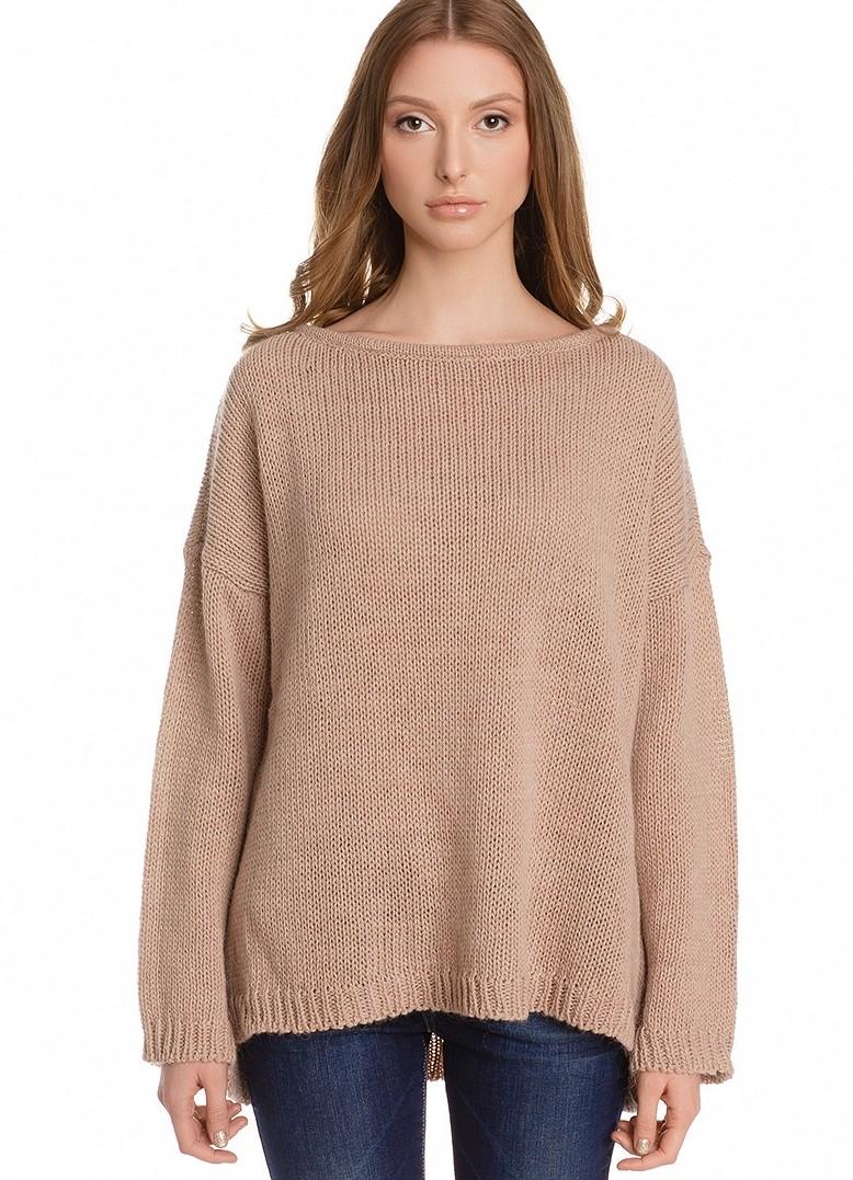 вязка модный свитер с розами схема