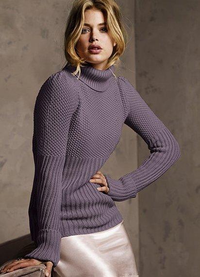 Пуловер с широким вырезом горловины с доставкой