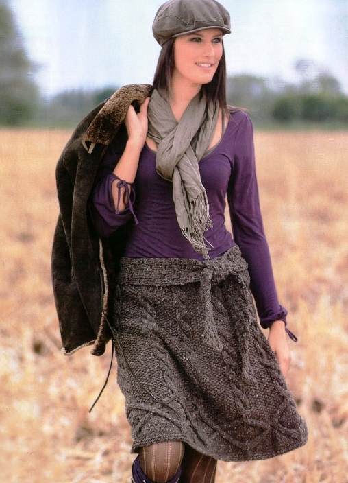 вязание женских юбок: