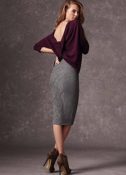 Вязание теплых юбок для женщин