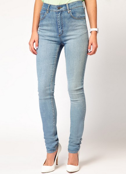 фото высокие джинсы